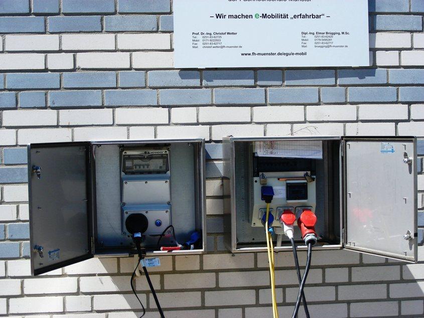 Endlich einmal eine gescheite Stromstelle ohne anfällige Zugangselektronik mit allem, was die Realos schätzen: Schuko-, Camping-, Drehstrom- und Typ2-Steckdosen.
