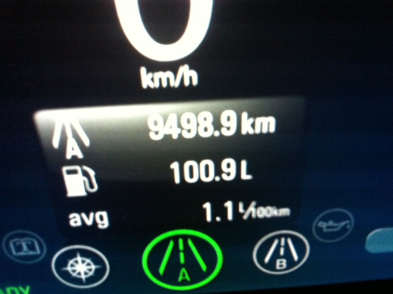 Wer braucht weniger? Hendrik fur seinen Ampera im Dauerbetrieb mit 1,1 Liter auf 100 km.