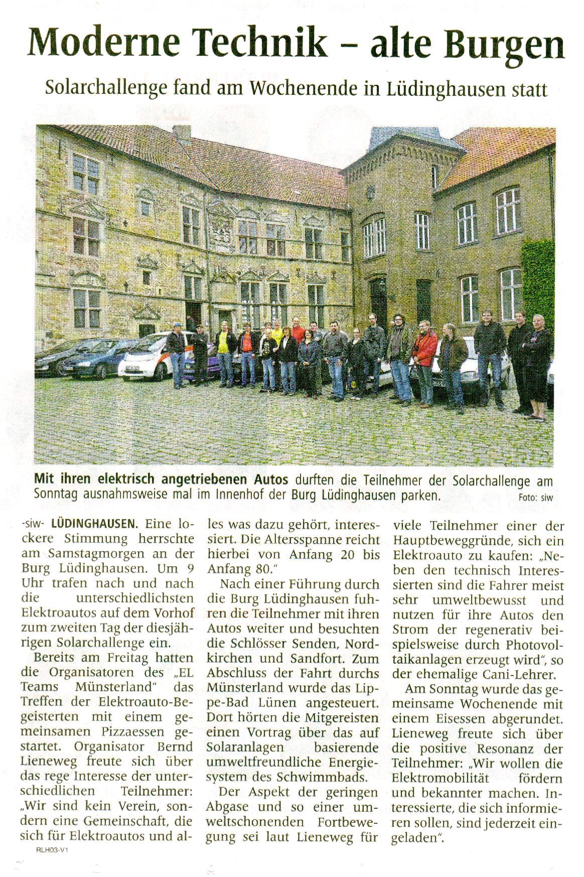Westfälische Nachrichten vom 21. Mai 2014