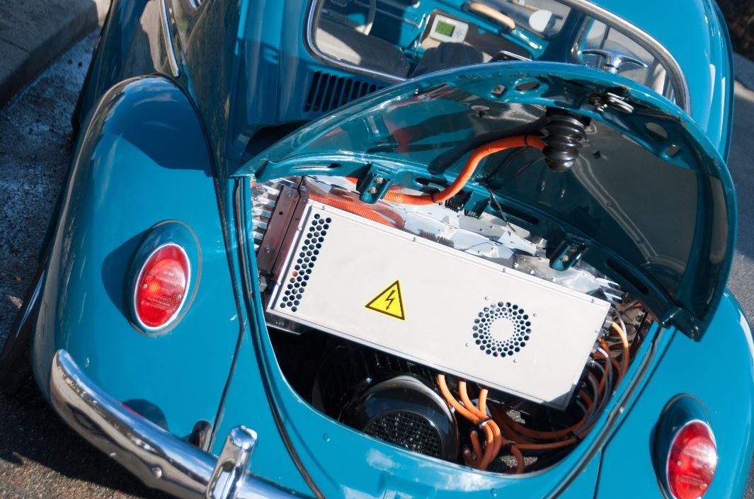 Von der Bauart ist der Käfer prädestiniert für den E-Motor