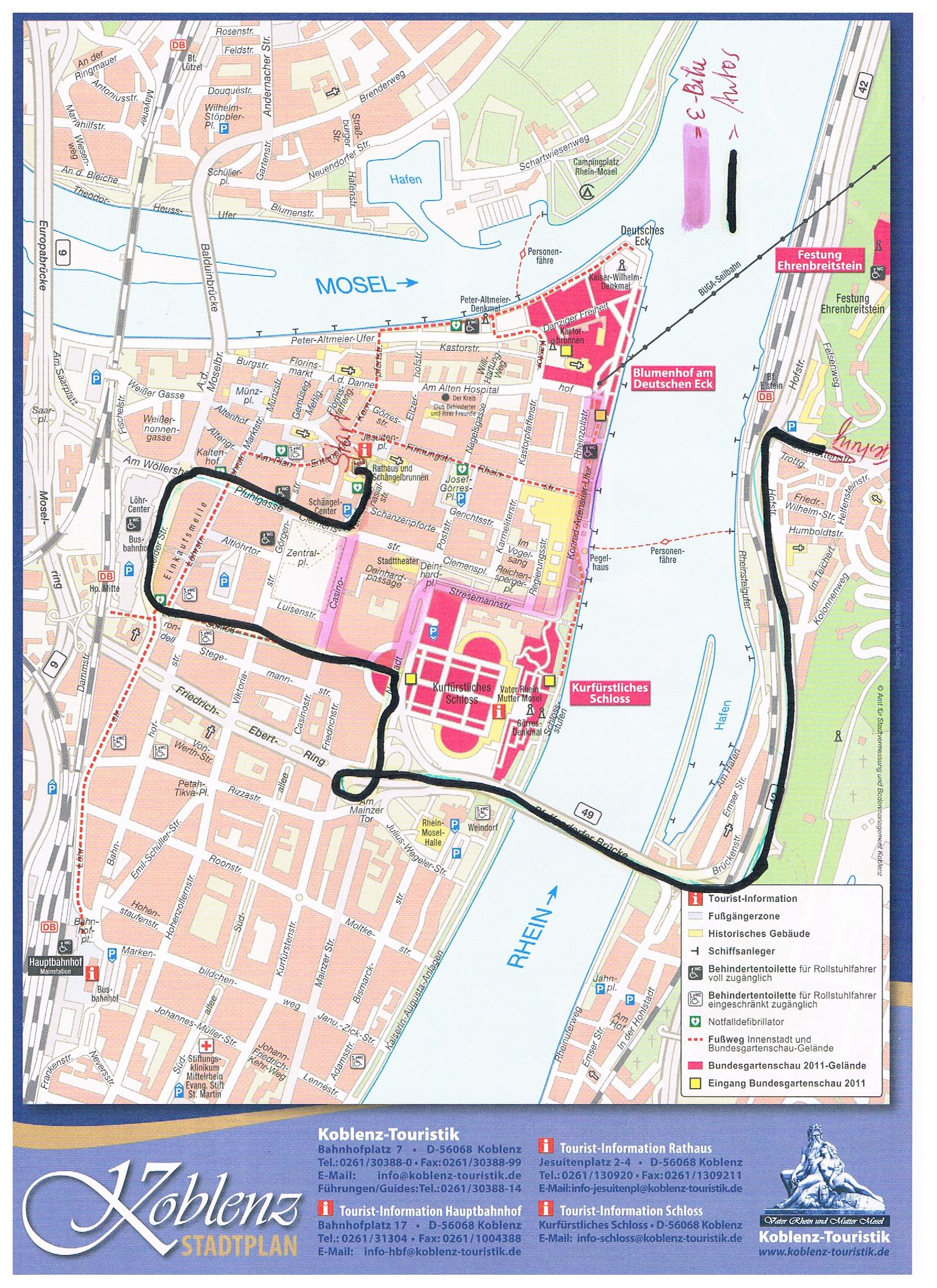 WAVE2014 - Route in Koblenz