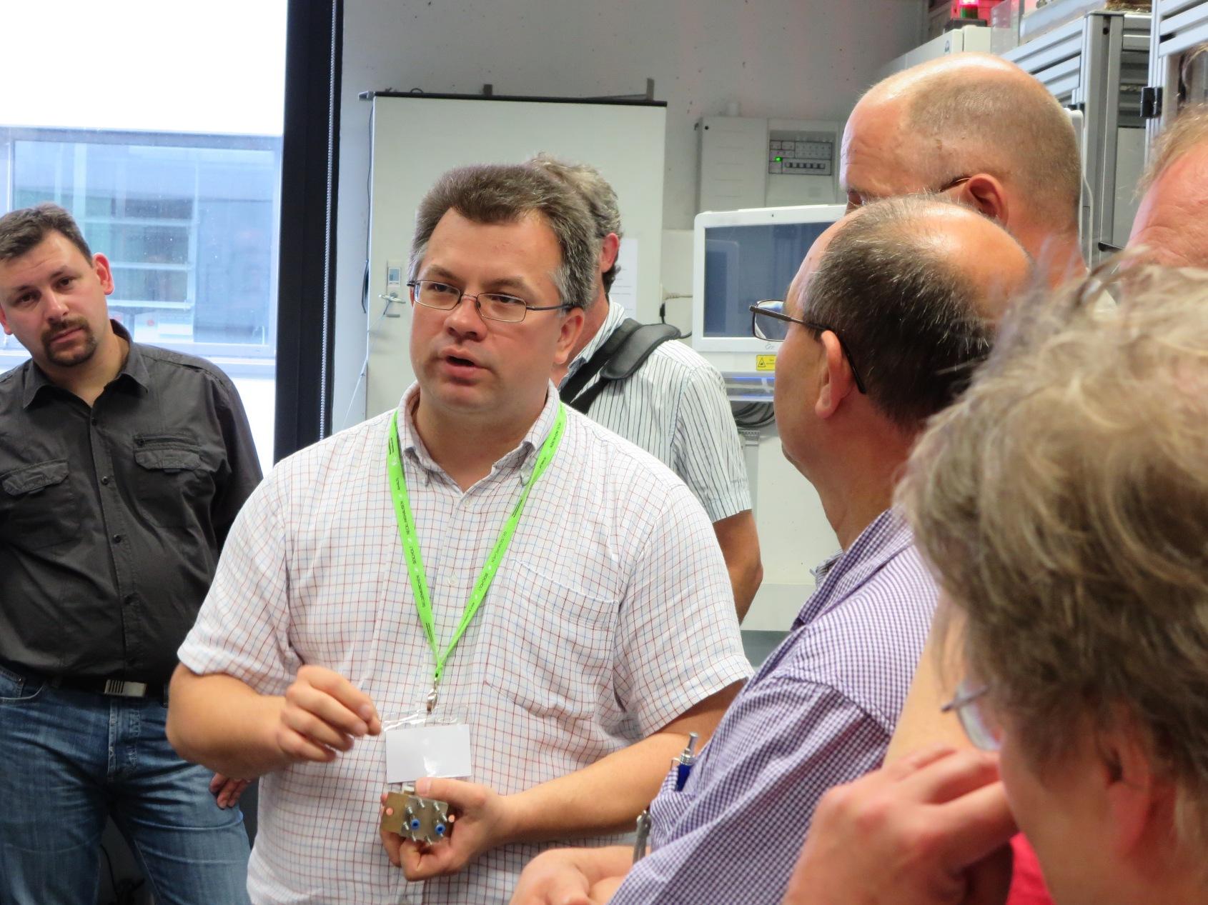 cristian Mutascu ist begeistert von der Leistungsfähigkeit der Brennstoffzellen
