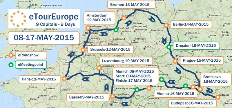 4200 km durch Europa - eTourEurope 2015