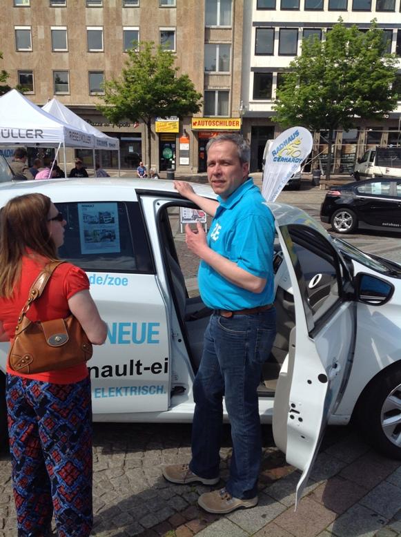 Renault Eisenstraße zeigte die kleine Zoe von Renault.