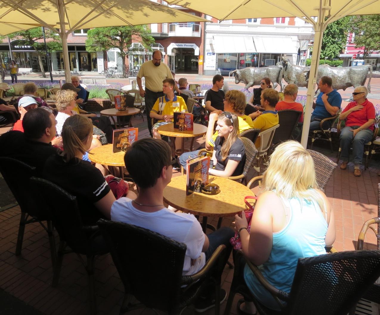 Zum Abschluss der Tour besuchen wir die Lünener Eisdiele in der Fußgängerzone.