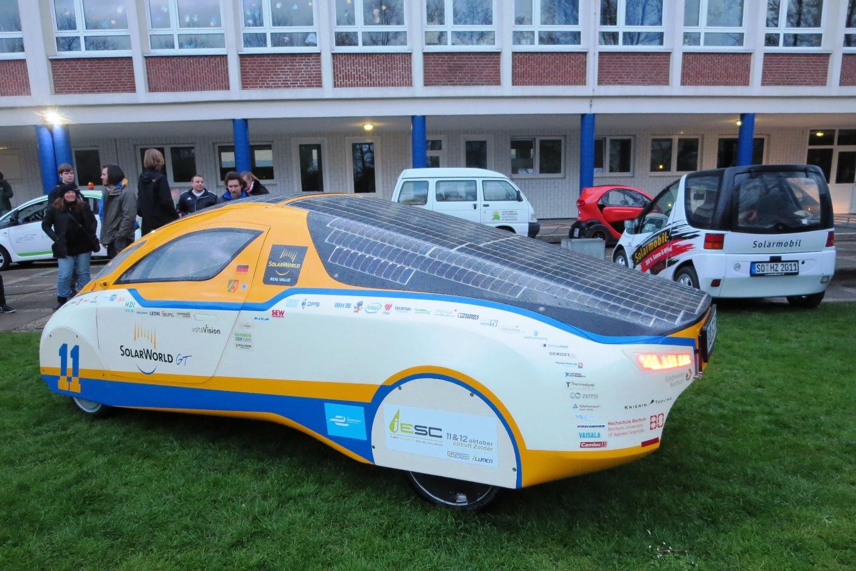 Solarcar-Team erstmals bei der Solarchallenge Münsterland.
