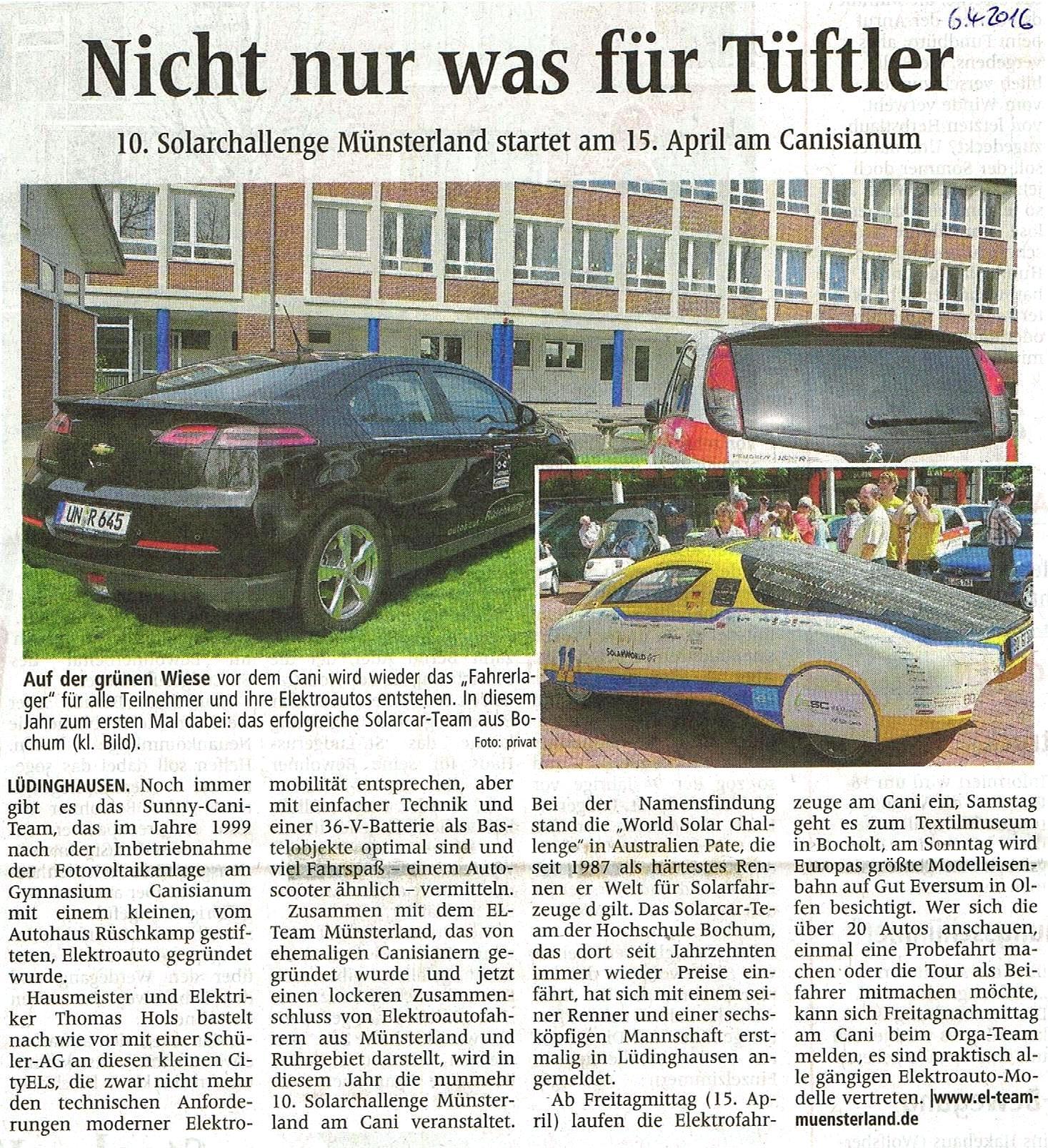 Westfälische Nachrichten, 6.4.2016
